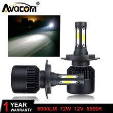 Avacom 2 Pieces H4 HS1 Motorcycle Headlights Bulb 12V 6500K 8000Lm H1 H3 H7 H11 LED Lights For Motorbike Scooter Moto(China)