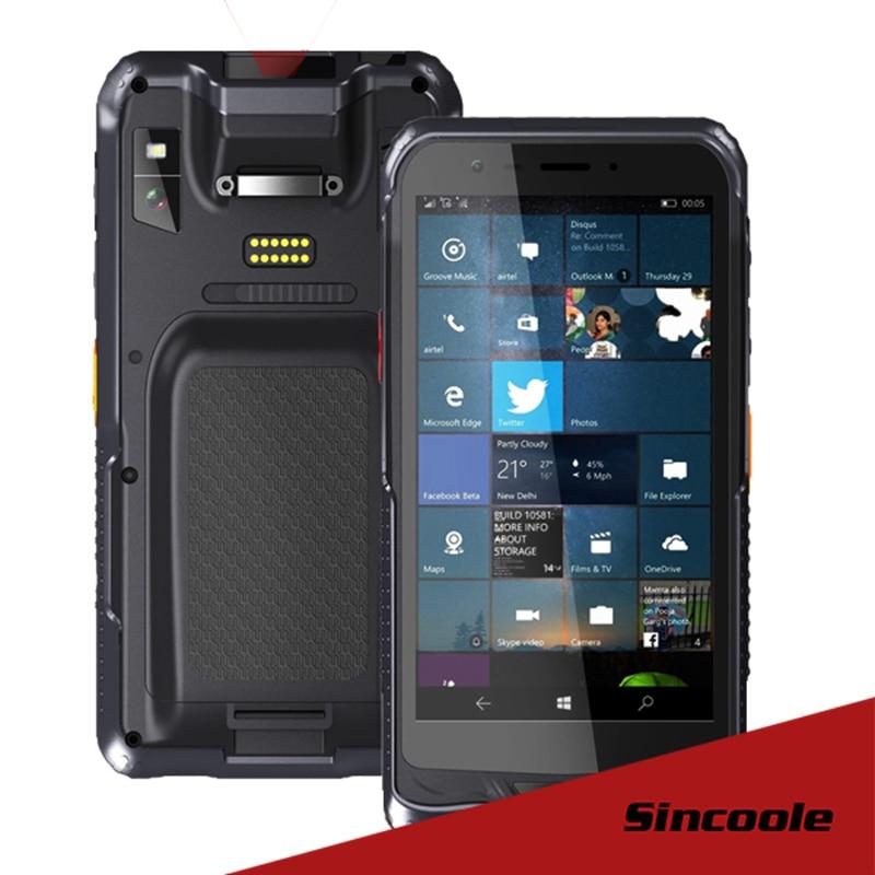 6 pouce windows 10 Enterprise Edition 2D Barcode Scanner RAM/ROM 2 GB/32 GB Robuste appareil de poche (robuste PDA)