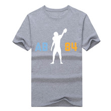 "2017 fashion Antonio Brown Steelers ""AB 84"" T Shirt 100% cotton short sleeve T-shirt 10101034"