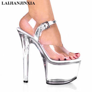LAIJIANJINXIA Crystal Sandals Platform High Heels Shoes 1e02e1e08277