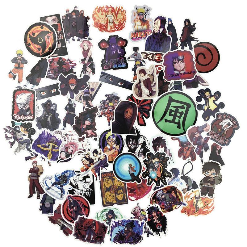70pcs Naruto Kakashi Sasuke Mix Laptop Stickers DIY Sticker for Kids Toys Cars Phone Laptop Bicycle Waterproof