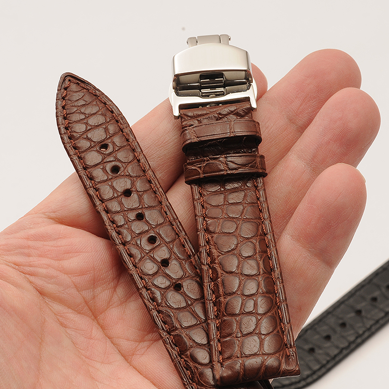 Crocodile Alligator Real Leather Watch Band Accessories For TOURBILLON TANK Master Collection Watch Strap 18mm 19mm 20mm 21mm все цены