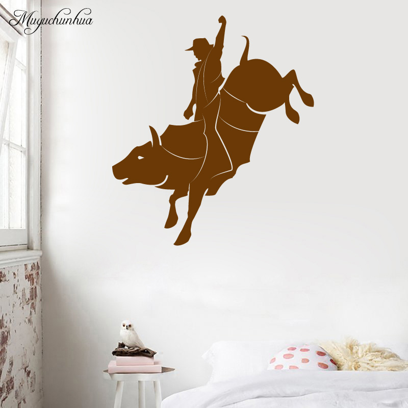 Muyuchunhua Matador Removable Wall Stickers Home Decoration Accessories for Living Room Waterproof Vinyl Background Wall Decal
