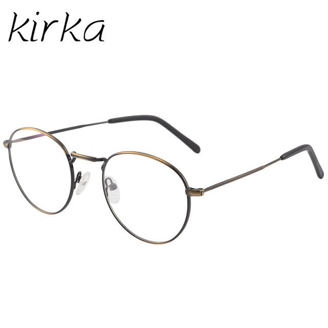 Kirka Metal Retro Clear Glasses Frame Optical Myopia Spectacles High ...