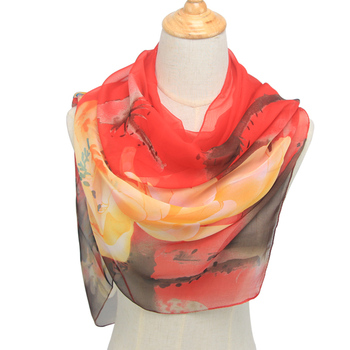 New Arrival 2020 Spring And Autumn Chiffon Women Scarf Polyester Geometric Pattern Design Long Soft