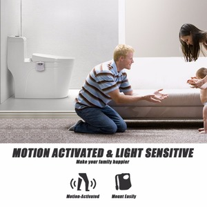 Image 4 - 8 색 자동 감지 화장실 조명 wc led 야간 조명 모션 센서 스마트 백라이트 화장실 그릇 욕실 nightlight