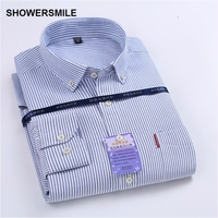 Stripe Dress Shirt Mens Cotton Blends Oxford Shirt Spring Fashion Designer Clothes Formal Social Shirt Camisas
