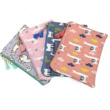 M182 2018 Cute Cartoon Women Cloth Bag Fashion Coin Purses Creative Alpaca Design Handbag Student Girl Women Gift Wholesale