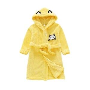 Kids Baby Boy Girl Robes Cartoon Nightgown Children Clothing Cat Cartoon Baby Girl Nightgown Pajamas Children's Autumn Winter
