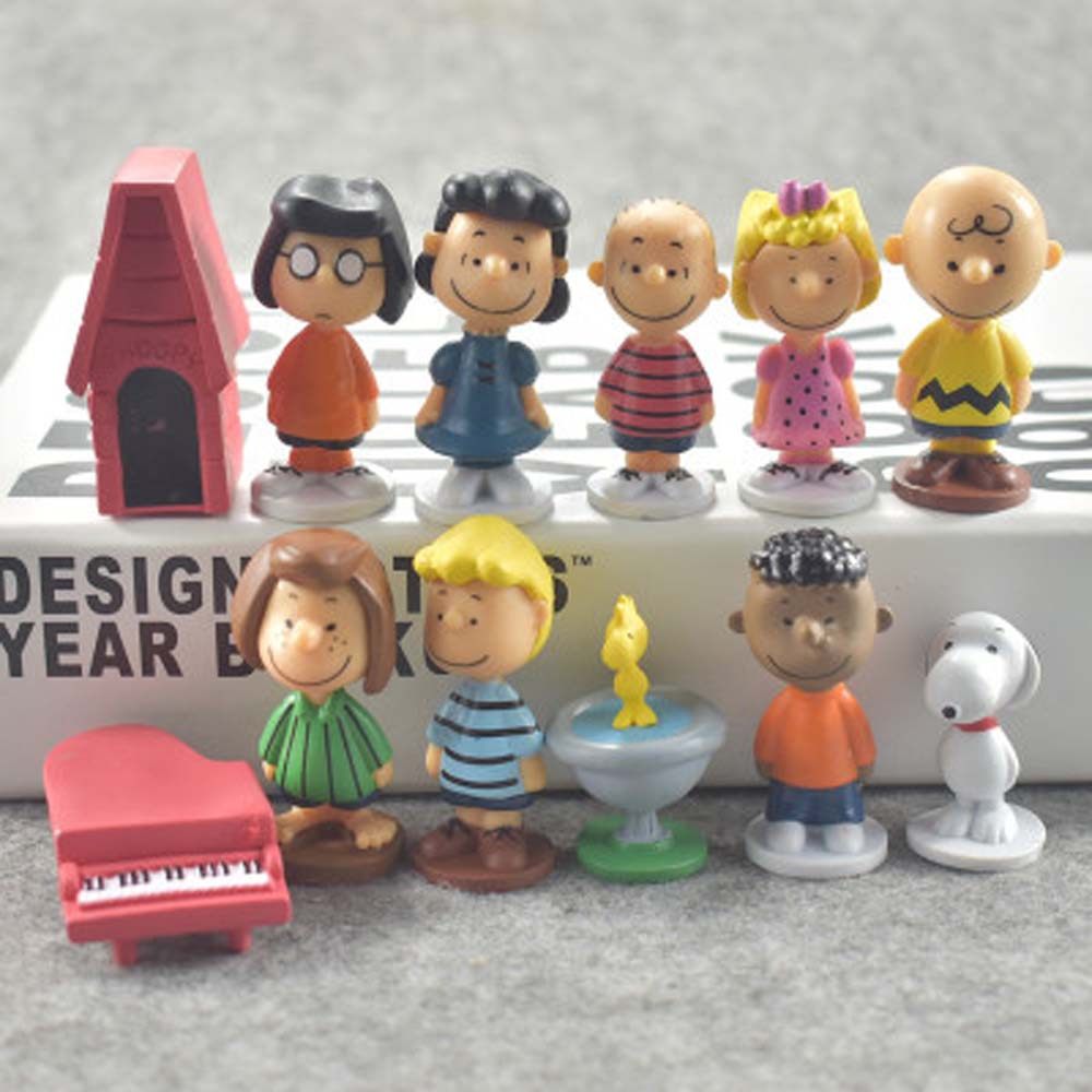 US $6 81 15% OFF 12pcs/set Charlie Brown And Friends Beagle Woodstock  Peanuts Girl Kid Toy Animiation Action Figure Kids Toy Gift Miniature  Model-in