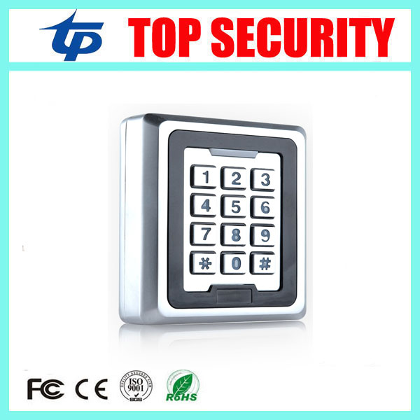 5pcs 125KHZ Smart card metal access control panel 8000 users surface waterproof standalone single door access controller systems good quality standalone single door access control system metal card reader 8000 users surface waterproof rfid access controller