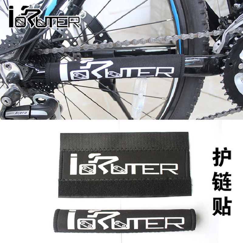 1pcs Bike Chain Protector Black Cycling Frame Chain Guide Stay Posted Protector MTB Bicycle Chain Guard Care Cover acacia 6355 fabrics bike bicycle chainstay protector w velcro black
