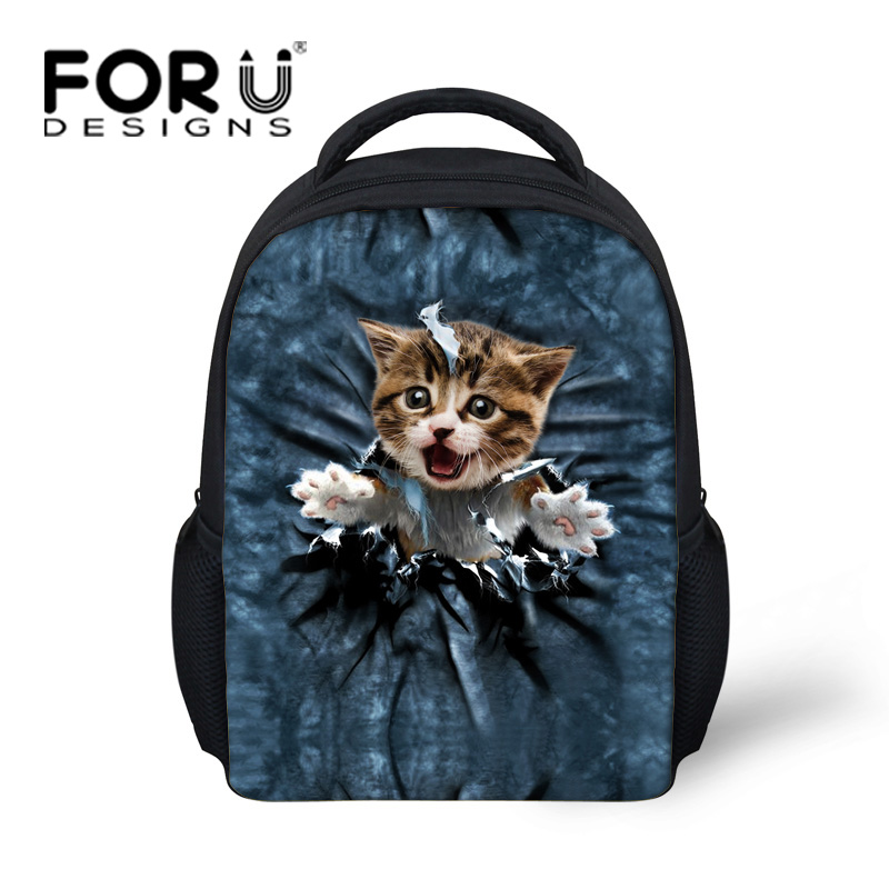 Kawaii Kids School Bags Mini Cute Cat Printed Little Girls Schoolbag Children Animal Book Casual Child Kindergarten Bag In From Luggage