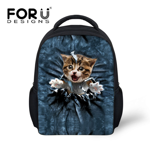 Kawaii Kids School Bags Mini Cute Cat Printed Little Girls Schoolbag Children Animal Book Bags Casual Child Kindergarten Bag