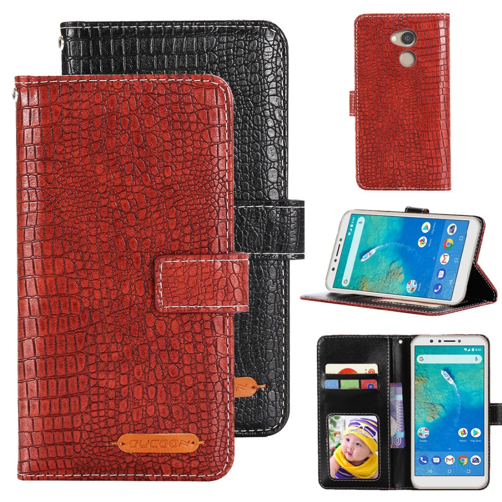 GUCOON Fashion Crocodile Wallet for General Mobile GM 8 GM8 Case Luxury PU Leather Phone Cover Bag for General Mobile GM8 Case(China)