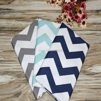 100x160cm Mint Green Gray Navy Zig Zag Arrow Rickrack Cotton Fabric Sewing Cloth DIY Patchwork Textile