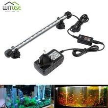 купить 19-48cm RGB Remote Colorful LED Aquarium Light Fish Tank Coral Lamp 5050 RGB Submersible Lights Color Changing Lights 110-240V дешево