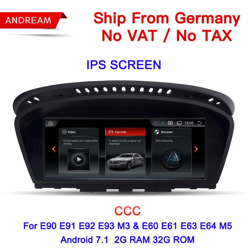 Allemagne Livraison Gratuite 8.8 Android ID6 Interface lecteur multimédia Pour BMW Série 3 5 E90 E60 etc GPS Navigation EW963BCCC