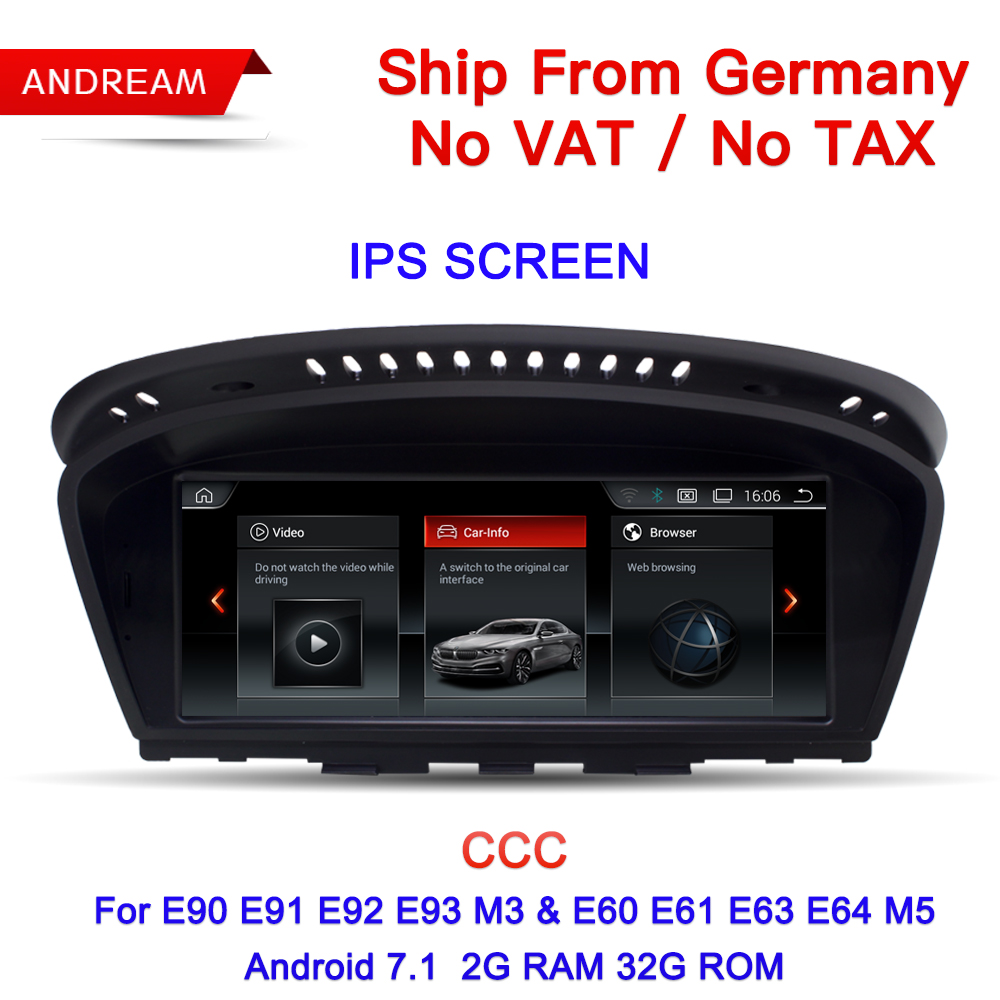 Germany Free Shipping 8.8 Android ID6 Interface multimedia player For BMW Series 3 5 E90 E60 etc GPS Navigation EW963BCCC