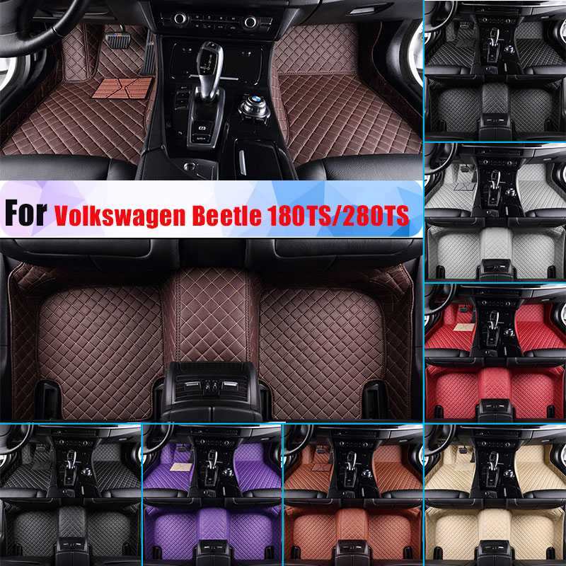 Waterproof Car Floor Mats For Volkswagen Beetle 180TS/280TS All Season Car Carpet Artificial Leather Full Surrounded All Weather