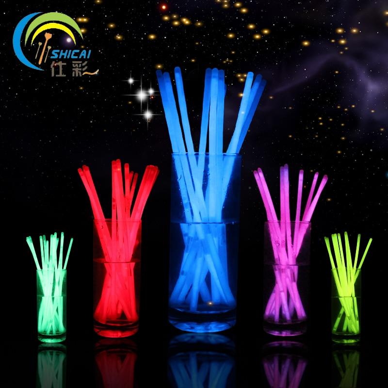 Νέα μόδα 100Pcs Πολύχρωμο Φως λάμψης Stick - Προϊόντα για τις διακοπές και τα κόμματα - Φωτογραφία 2