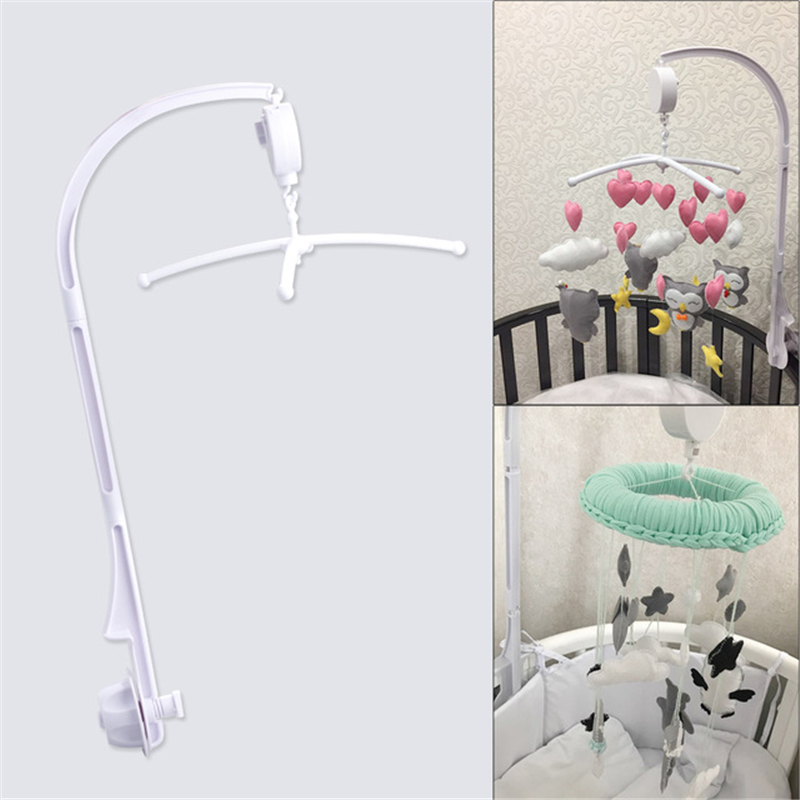 Plastic Baby Crib Holder Baby DIY Crib Mobile Bed Bell Toy Holder 360 Degree Rotate Arm Bracket Wind-up Music Box Baby Rattle hot 35 songs rotary baby mobile crib bed bell toy battery operated music box newborn bell crib toy for baby