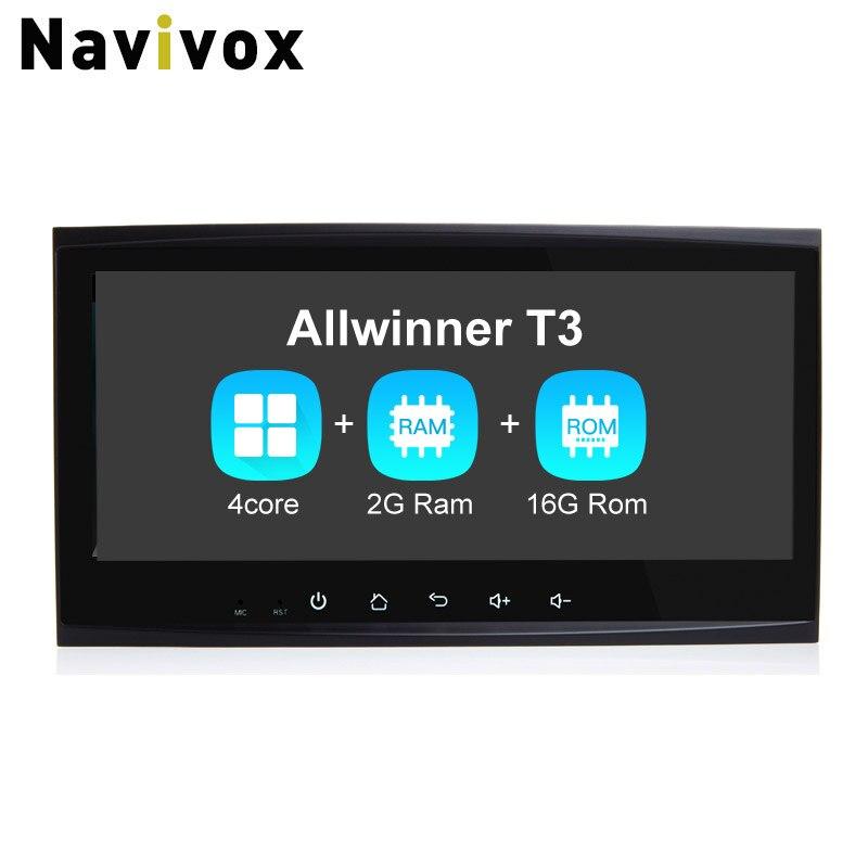 Navivox 8.8 ''2 din CarGPS di Navigazione Stereo Audio Player Android 7.1.1 Quad Core Per Touareg Vecchio Ram2G Auto Radio GPS di Navigazione