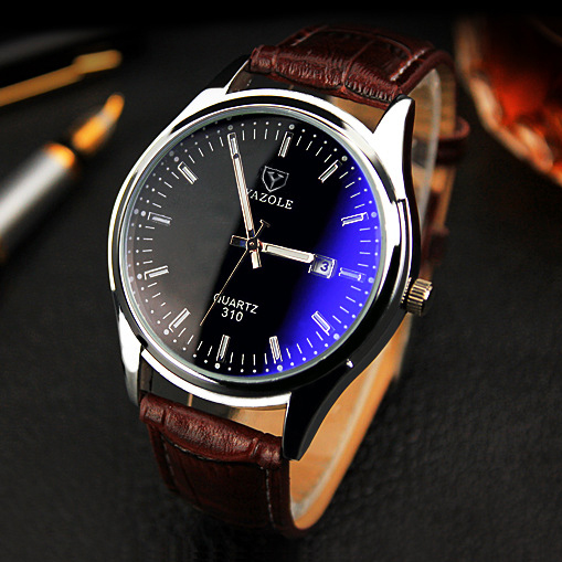 YAZOLE Quartz Watch Men Watches 2016 Top Brand Luxury Famous Male Clock Leather Wrist Watch Date