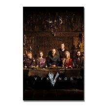 Affiche d'art en soie ou toile imprimée de la série télévisée VIKINGS 13x20 pouces pour décoration de salle-006