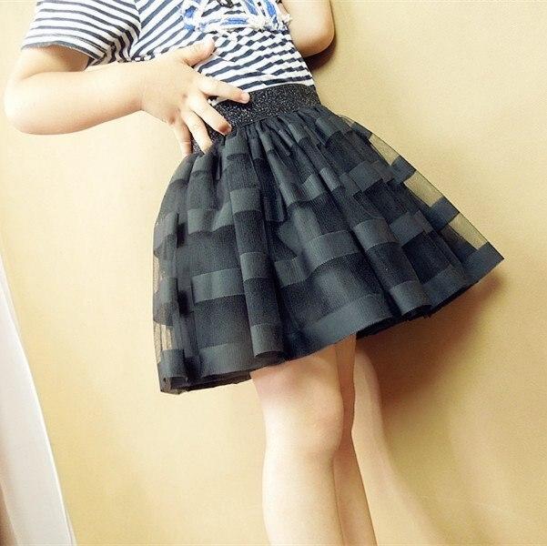 free shipping 2016 Kids summer new big virgin child fashion striped short skirt tutu skirt girls