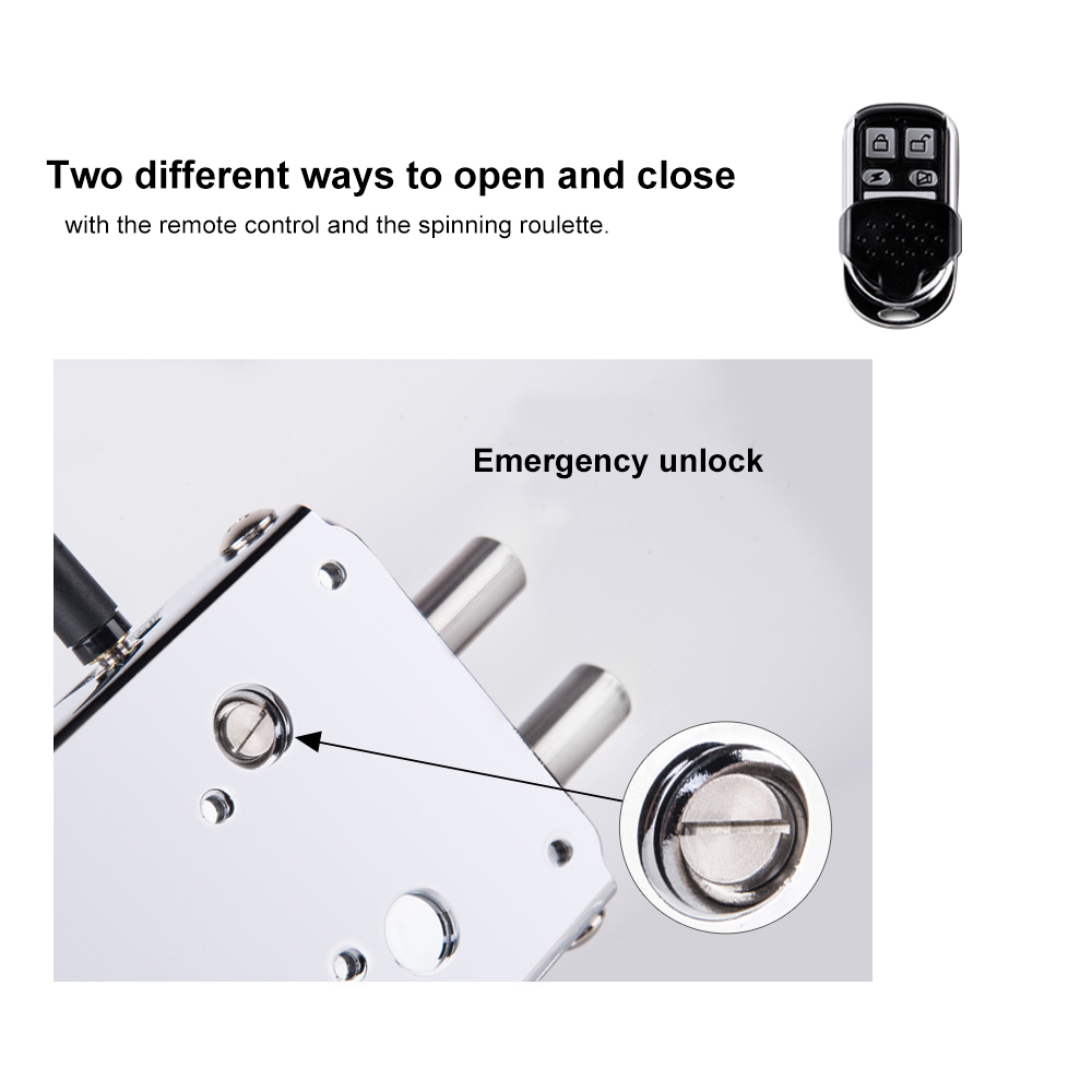 Image 4 - Security Electronic Door Lock Remote Control Keyless Safe Lock Door Entry Smart Wireless Anti theft Deadbolt Access Control-in Electric Lock from Security & Protection