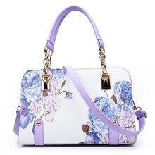 2017 mode fleurs dames sacs impression femmes sacs à main louis femmes sac petite coquille sacs de luxe designer bandoulière en cuir sacs(China (Mainland))