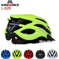 Kingbike Сверхлегкий интегрального под давлением Велоспорт шлем MTB дорожный велосипед Casco Ciclismo безопасный Кепки Для мужчин Для женщин 24 вентиля...