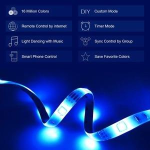Image 4 - 5 متر واي فاي لمبة led بلوتوث قطاع تيار مستمر 12 فولت مصلحة الارصاد الجوية 5050 غير مقاوم للماء مرنة RGB الشريط ضوء خيطي يعمل مع الأمازون اليكسا جوجل مساعدة