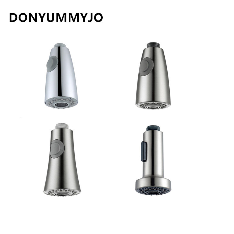 1pc Kitchen Faucet Accessories ABS Brushed Nickel Chrome Silver Sink Kitchen Pull Down Faucet Dual Spray Spout Shower Head