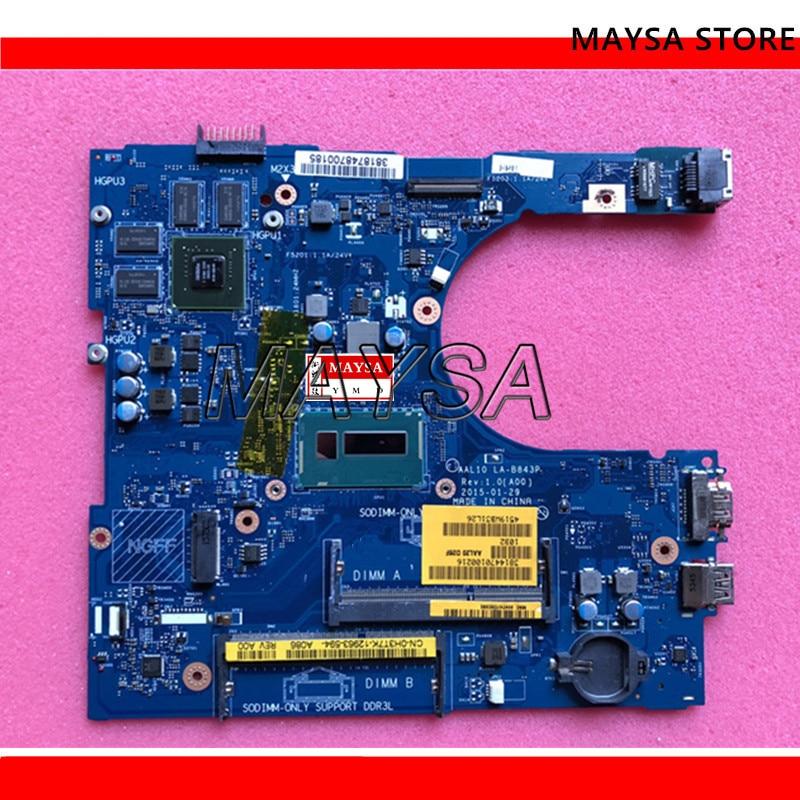 CN-0F0T2K F0T2K FOR Dell INSPIRON 5458 5558 5758 SERIES Laptop Motherboard AAL10 LA-B843P REV:1.0(A00) 3205U mainboardCN-0F0T2K F0T2K FOR Dell INSPIRON 5458 5558 5758 SERIES Laptop Motherboard AAL10 LA-B843P REV:1.0(A00) 3205U mainboard