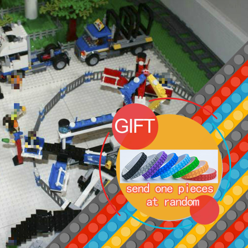 15014 1858pcs Genuine Street Series The Amusement Park Giant Stride Carnival Set Building Blocks Compatible with 10244 toy lepin the unhappy giant level 3