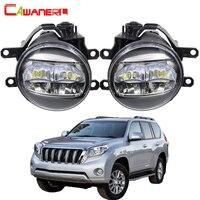 Cawanerl 2 X Car LED Fog Light 4000LM DRL White Right + Left H11 12V For Toyota Land Cruiser Prado J150 2009 2010 2011 2012 2013
