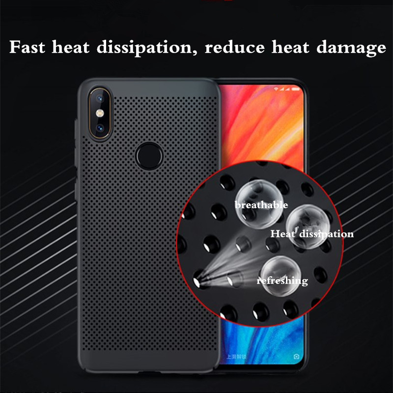 10pcs/lot Hollow Pc Hard Case For Xiaomi 9 6x 6 6a Pocophone F1 8 Lite Redmi Note 7 6 Pro A2 Lite A1 5a Heat Dissipation Cover To Produce An Effect Toward Clear Vision