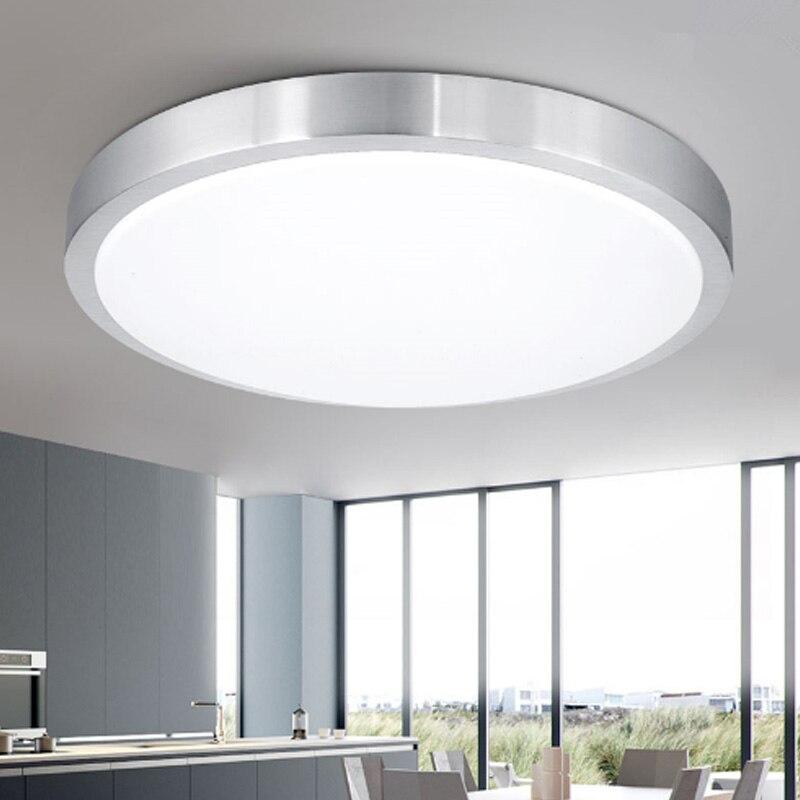 Ceiling lights LED lamp Diameter 21/26cm Acryli panel Aluminum frame edge indoor lighting Bedroom living kitchen LED light 12W-in Ceiling Lights from Lights & Lighting