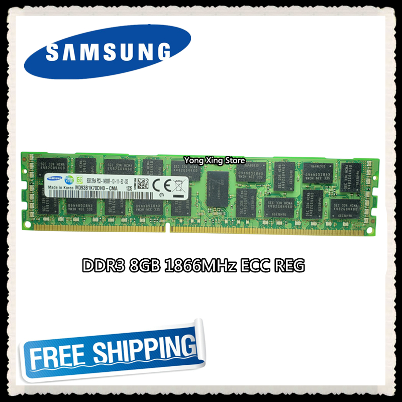 Samsung Server Memory DDR3 8GB 16GB 1866MHz ECC REG DDR3  PC3-14900R Register DIMM RAM 14900 8G 2RX4 X58 X79