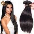 Cabelo virgem peruano reta 3 pacotes lida 7a barato não transformados cabelo virgem peruano reta tece, cabelo maxglam reta