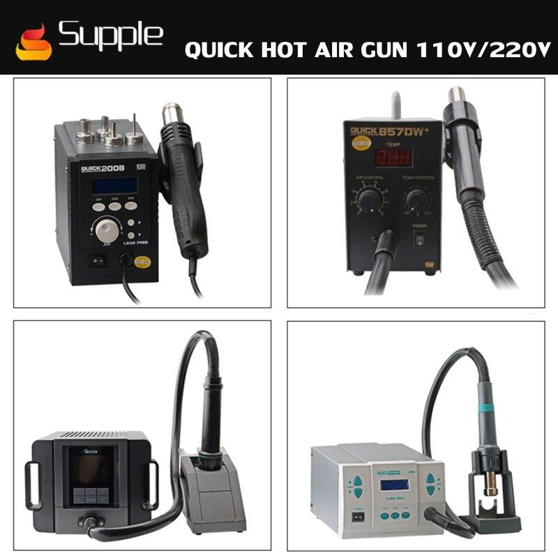 цена на Supple Quick 861DW 2008 857DW+ 858D 1300A lead-free intelligent hot air gun Hot Air station soldering station repair worktable