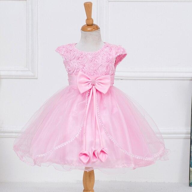 2015 caliente venta del vestido de partido bebés tamaños Flowergirl ...