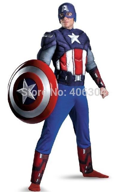 haute qualit adulte hommes captain america muscle partie halloween costume avenger hero vtements avec masque en - Masque Captain America