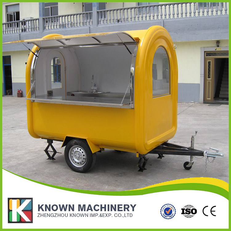 KN-220B mobile food carts/trailer/ ice cream truck/snack food carts two water sinks with free shipping by sea multifunctional mobile food trailer cart fast food kitchen concession trailer