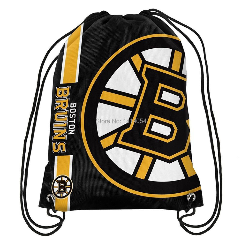 Boston Bruins Drawstring Backpack 35x45CM MLB Digital Printing Polyester Custom Sports Backpack, free shipping ...
