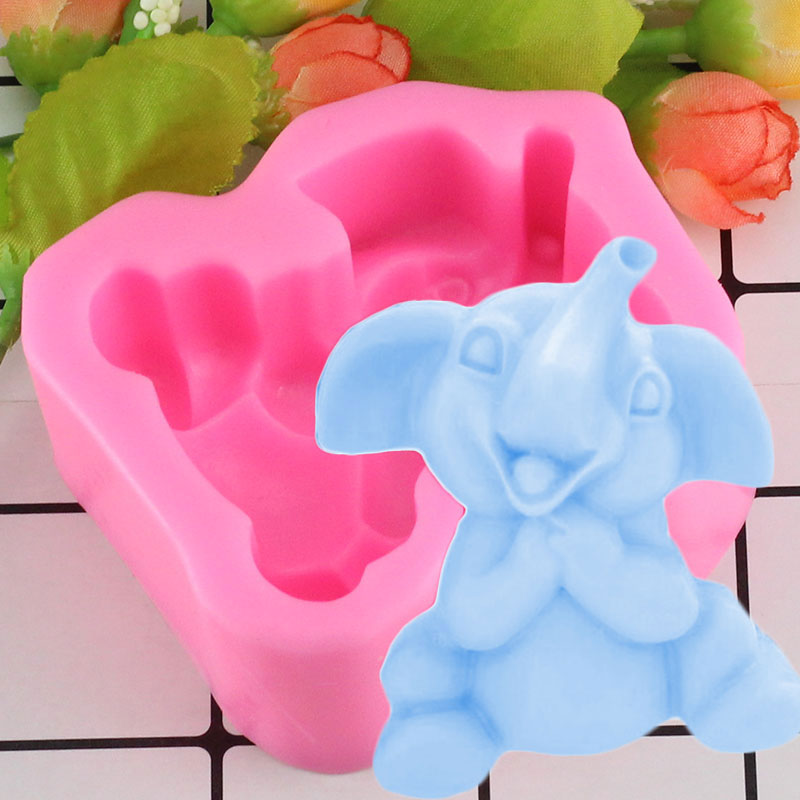 Elephant Mould Craft Art Silicone Soap Mold Craft Molds DIY Handmade Candle Molds