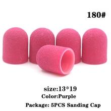20PCS 13*19 80 120 150 180 240 Grip Nail Sanding Bands Caps Cutter For Manicure Pedicure Tools For Pedicure Cutters For Nail Art