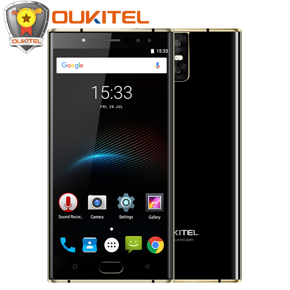 NEW Oukitel K3 Four Cameras Mobile Phone 6000mAh Flash Charge 4GB+64GB 13MP+13MP MT6750T Octa Core Front Touch ID 4G Smartphone